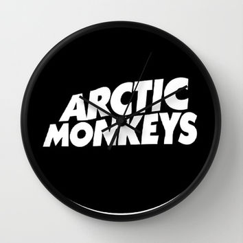 Arctic Monkeys Wall Clock by Sara Khaled | Society6