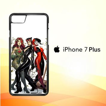 Poison Ivy Harley Quinn,Batgirl And Catwoman  Z0225 iPhone 7 Plus Case