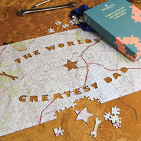 The World's Greatest Dad Personalized Map Puzzle