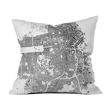 San Francisco Map Pillow