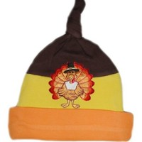 Jacqui's Preemie Pride Unisex-baby Happy Thangiving Turkey Hat