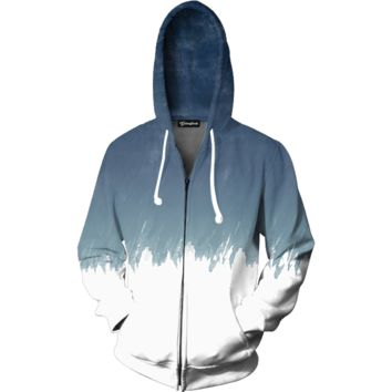 Water Color Zip Up Hoodie