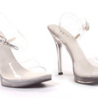"Women's 5"" Heels Clear Sandal"