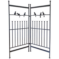 Fun Vintage Wrought Iron Room Divider Sculpture