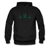 Irish Shamrock - St Patrick's Day Heart Beat hoodie sweatshirt tshirt