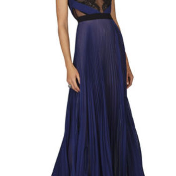 Bcbg Black And Blue Long Dress