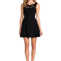BCBGMAXAZRIA Yasminka Dress in Black