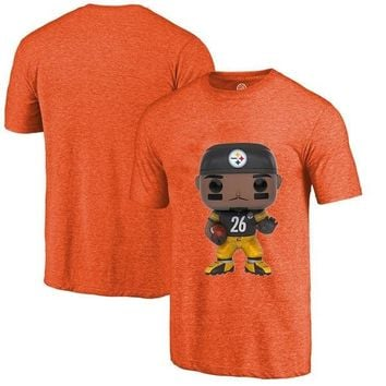 Men's Summer T-Shirt, Steelers Fans Pittsburgh 26 Rod Woodson Cartoon Figure Picture Printing Classical O-neck T Shirt