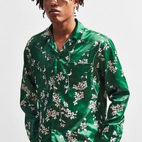 UO Floral Satin Button-Down Shirt | Urban Outfitters