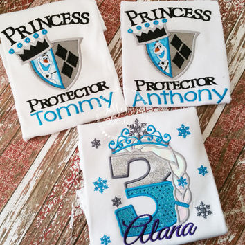 Princess Protector Olaf-inspired Custom Tee Shirt - Customizable -