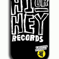 iPhone 4S Case - Hard (PC) Cover with Hi or Hey Record 5SOS Plastic Case Design