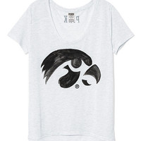 University of Iowa Scoopneck Tee - PINK - Victoria's Secret