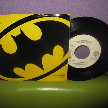 "Vinyl Record Prince - Partyman b/w Feel U Up 7"" 45 1989 Batman Single Dance Pop"