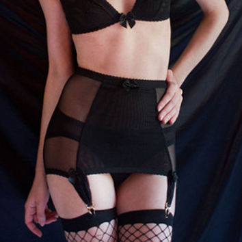 Ryan garter belt with grey beige straps by Kayleigh Peddie