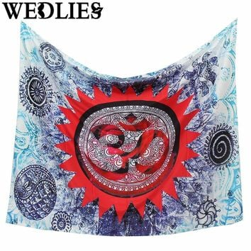 Wall Hanging Polyester Indian Mandala Tapestry 145x145cm Bohemian Bedspread Dorm Cover Throw Blanket Home Room Decor Accessories