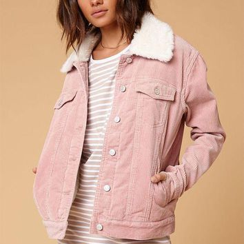 ONETOW PacSun Sherpa Corduroy Trucker Jacket at PacSun.com
