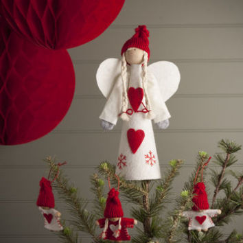 Nordic Tree Topper Angel Or Santa