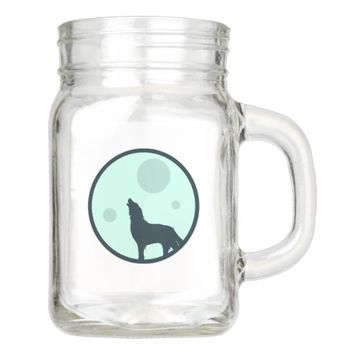 Howl to the Moon Mason Jar