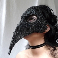 Raven Masquerade Mask, Gothic, Han.. on Luulla