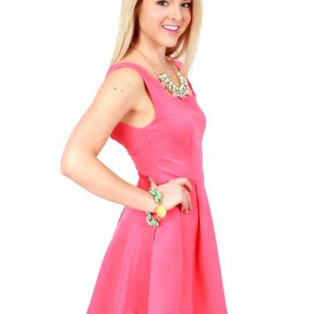 Off To The Races Coral Scalloped Dress | Monday Dress Boutique