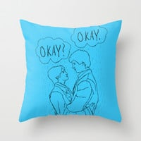 The Fault in Our Stars-Rain Throw Pillow by Anthony Londer