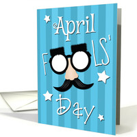 Funny Glasses with mustache and Bushy Eyebrows for April Fools' Day card