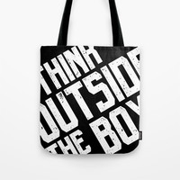 Think outside the box Tote Bag by g-man
