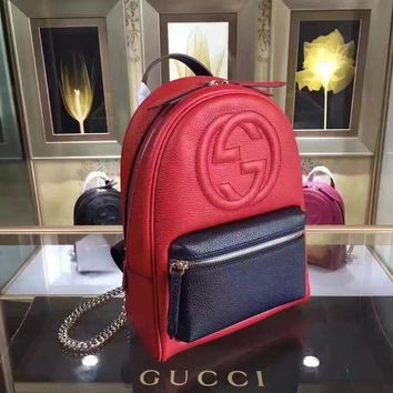 Gucci New Style Leather Jackie Soft Backpack Bag #28941 - Best Deal Online