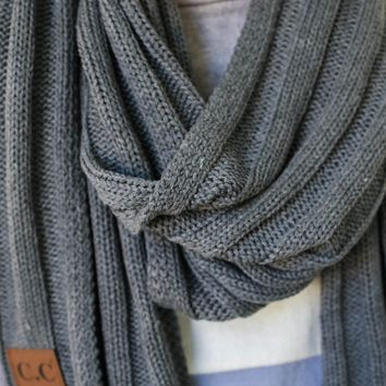 Just For You Scarf - Charcoal