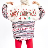 "Merry Christmas - ""Ugly Christmas Sweater"" Spirit Jersey®"