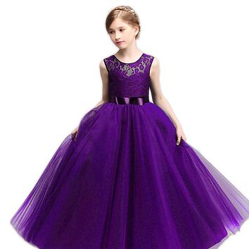 Teenage Girl School Prom Ball Dress Lace Princess Girl Costume For Kids Clothes Children Party Dresses For Girls 10 12 14 Years