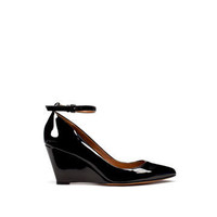 PATENT LEATHER WEDGE SHOE WITH ANKLE STRAP - Shoes - Collection - Woman - ZARA United States