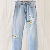 Vintage Levis Floral Embroidered Jean - Urban Outfitters
