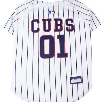 Chicago Cubs Baseball Dog Jersey Medium