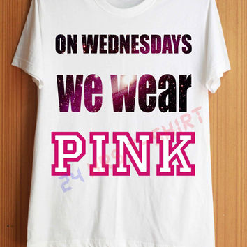On Wednesday We Wear Pink Shirt Pink Galaxy Shirts T Shirt T-Shirt TShirt Tee Shirt No Side Seams Unisex - Size S M L XL