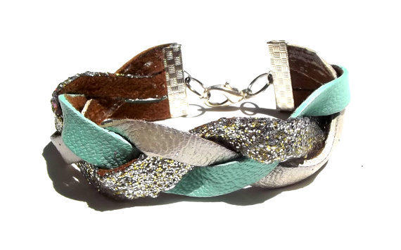 Tinsel Town - Leather Braided Bracelet