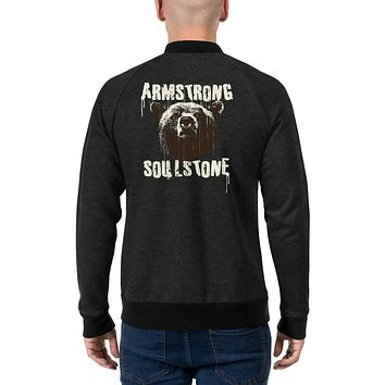 Men's Streetwear Fashion Bomber Jackets Coat Winter Outfit Bomber Jacket Armstrong Soul Stone