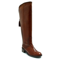 Brown leather knee high riding boot with tassel detailat debenhams.ie