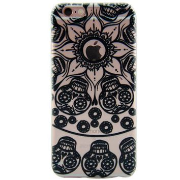 Newest Customized Black Hollow Skull Case Cover for iPhone 7 7 P cb8be9bca56c