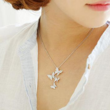sterling silver butterfly necklaces pendant