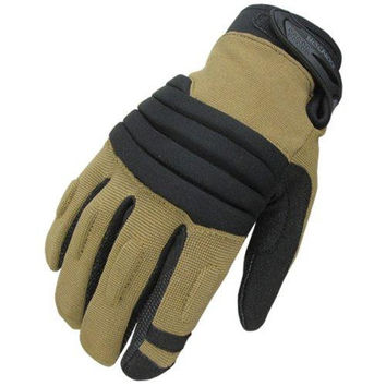 Stryker Padded Knuckle Glove Color- Coyote-Black (X-Large)