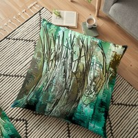 'River Grass' Floor Pillow by Susan Evans