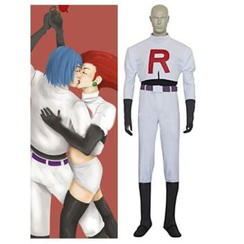 Anime  Cosplay Anime Pocket Monster  Team Rocket James Cosplay Costumes  CosplayKawaii Pokemon go  AT_89_9