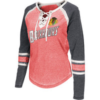 G-III Women's Chicago Blackhawks Hat Trick Long-Sleeve T-Shirt