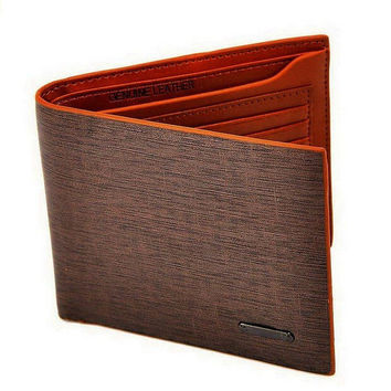 Men's Brown Leather Card Holder Bifold Wallet