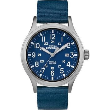 Timex Expedition&reg Scout Watch - Blue Dial/Tan Strap