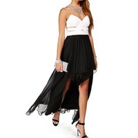 Elly- BlackIvory Hi low Prom Dress
