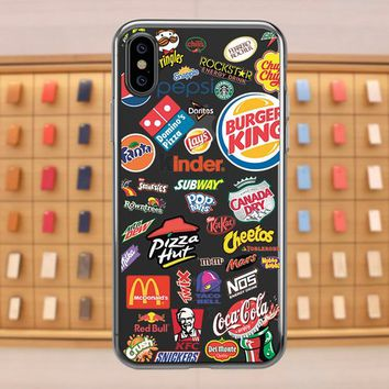 food iPhone 7 Plus case, planner stickers iPhone 8 case, iPhone 7 case, Samsung S9 Plus case, iPhone X case, iPhone xs max case, u282