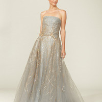 Carolina Herrera Embellished Strapless Gown
