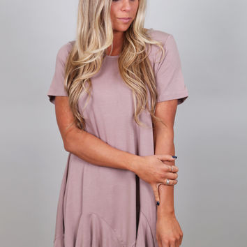 Soft & Sweet Ruffled Tunic {Mocha}